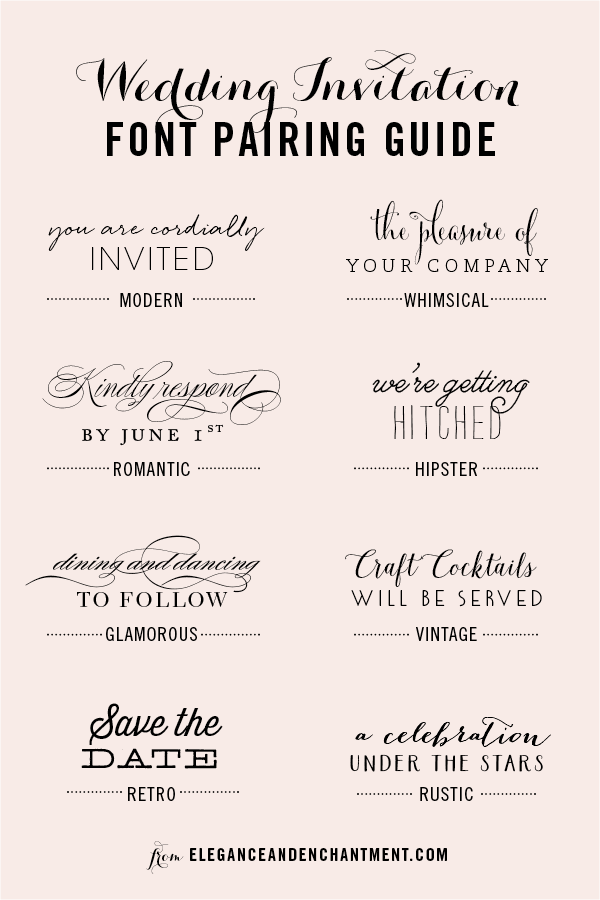 Font Styles For Wedding Invitations