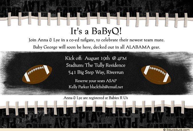 Football Baby Shower Invitation Template