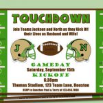 Football Banquet Invitation Wording Samples