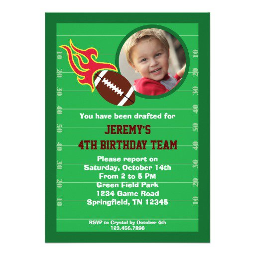 Party Invitation Wording – Football Party Invitation Wording