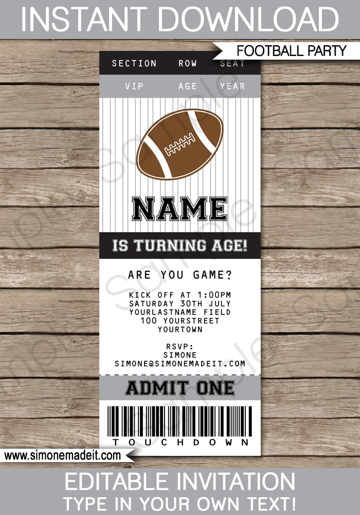 Football Tailgate Invitation Template