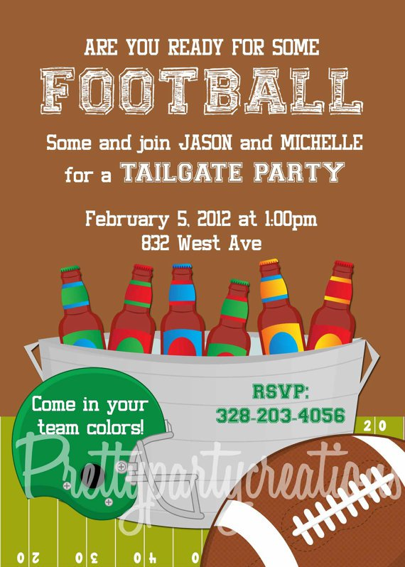 Football Tailgate Invitation Wording