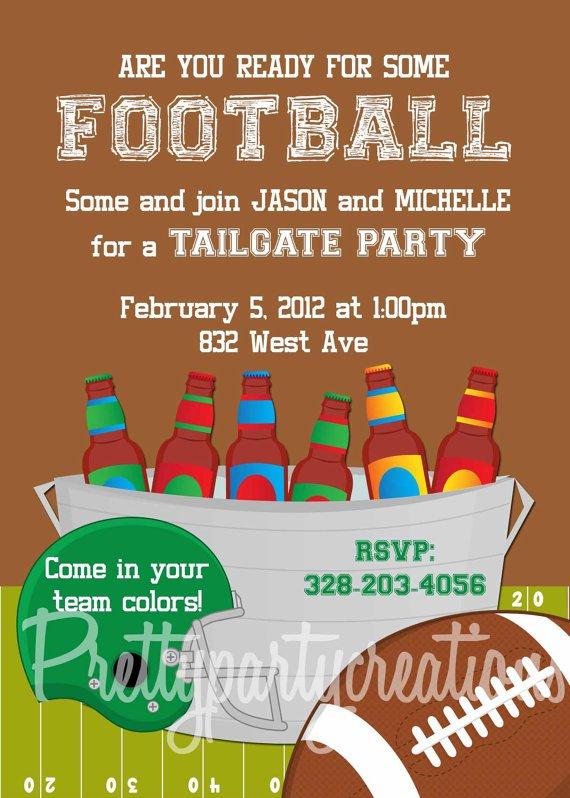 Football Tailgate Invitations – Football Party Invitation Wording