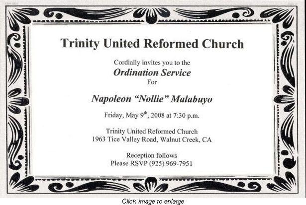 For Church Event Invitation Wording