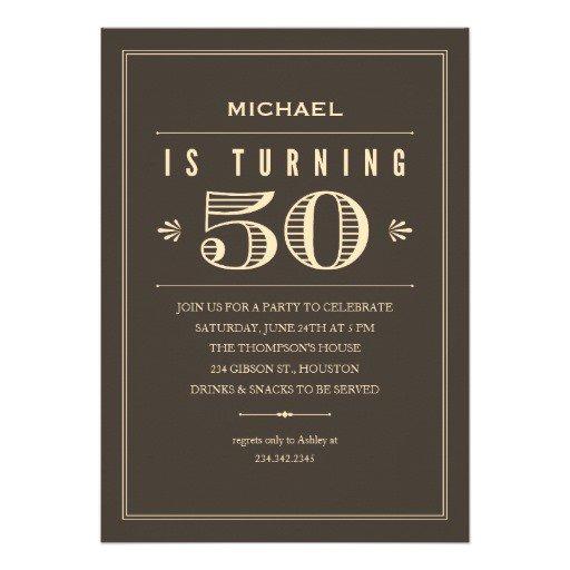 Formal 50th Birthday Invitations