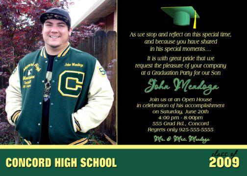 Formal High School Grad Invitations