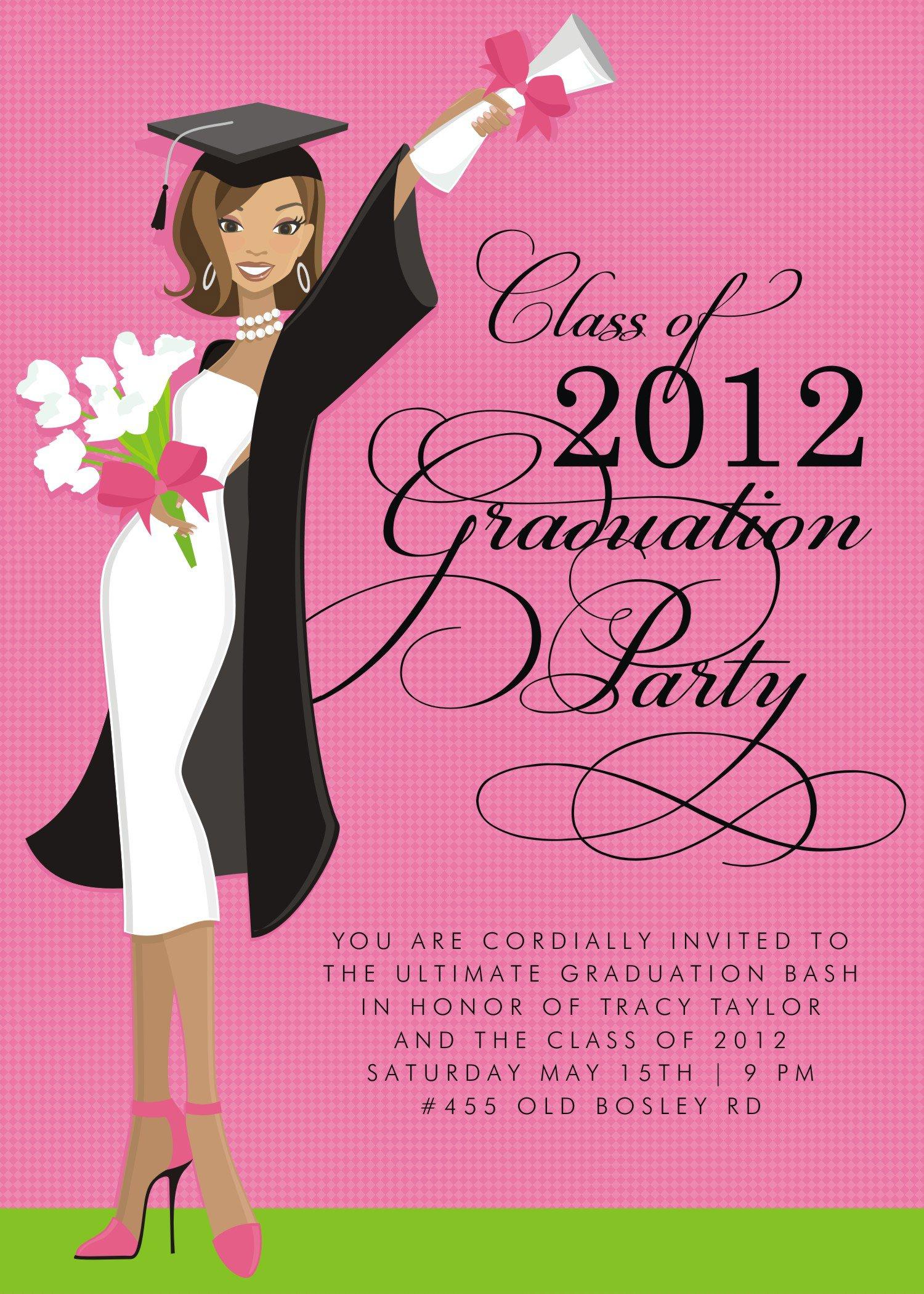 Formal High School Graduation Invitations