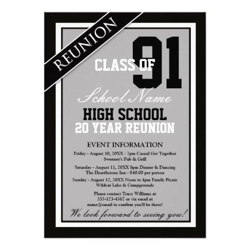 Formal High School Reunion Invitations