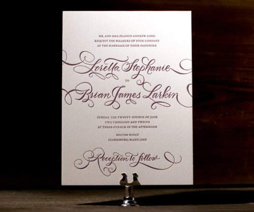 Formal Wedding Invitation Examples