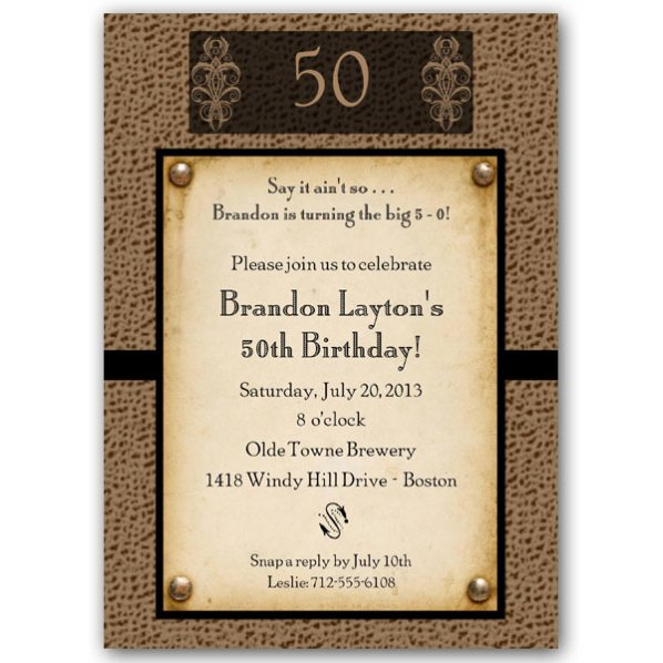 Free 50th Birthday Invitation Wording Samples