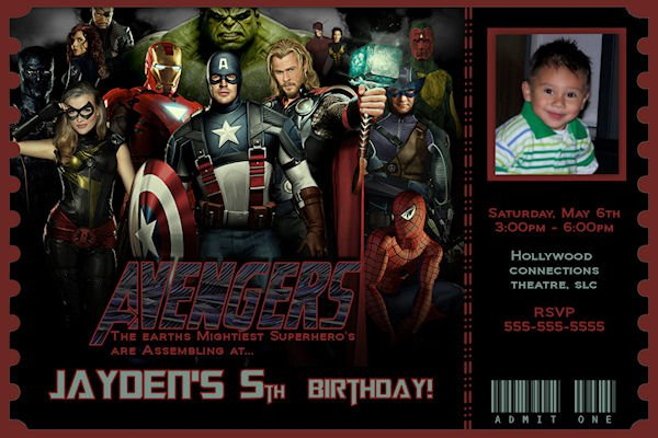 Free Avengers Printable Birthday Invitations