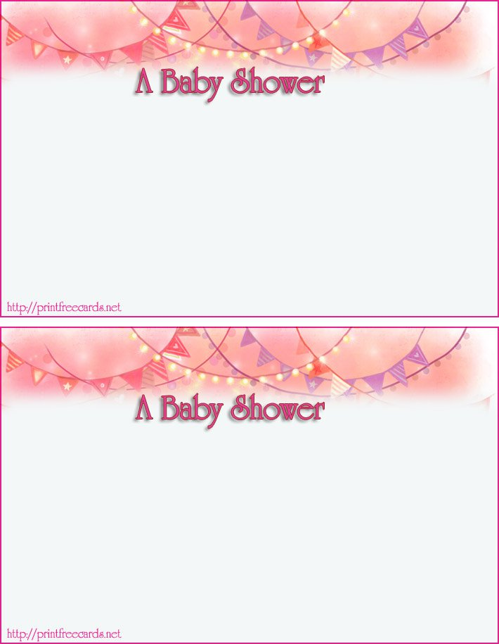 Free Baby Shower Invitations To Print Out