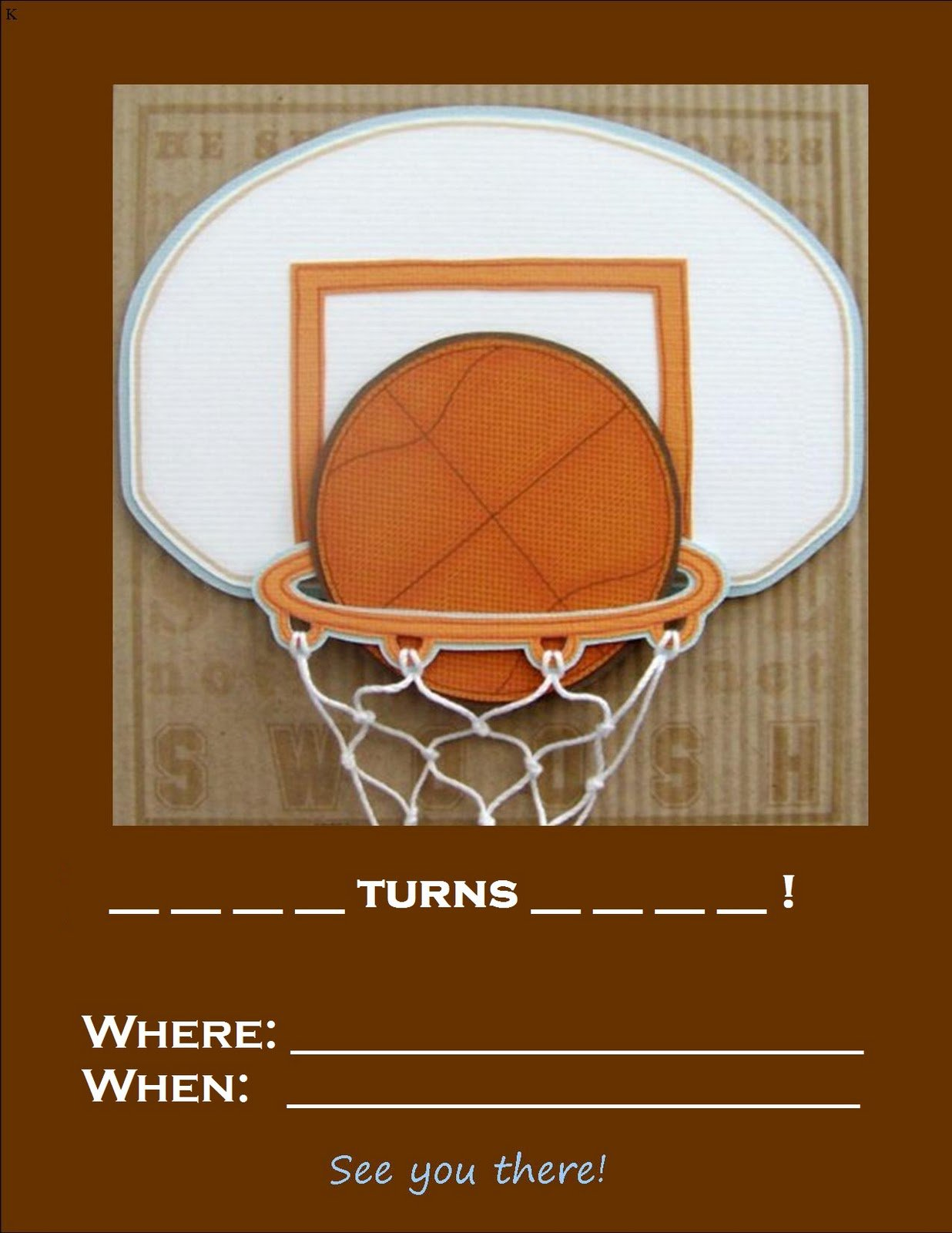 Free Basketball Birthday Invitations Printable