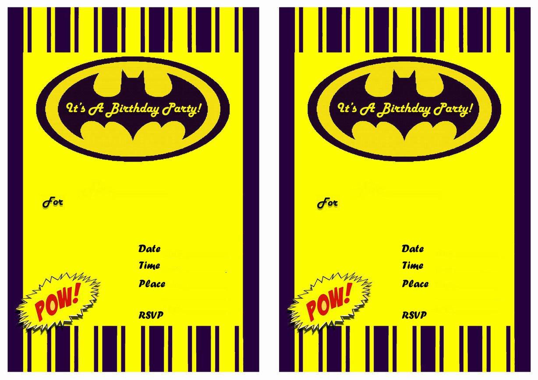 Free Batman Invitation Blanks