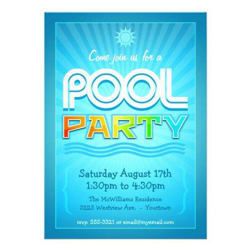 Free Bbq Pool Party Invitations