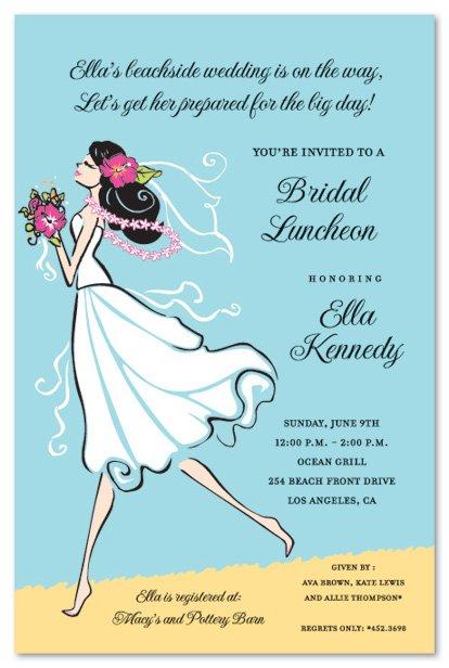 Free Beach Bridal Shower Invitation Templates