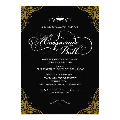 Free Blank Masquerade Invitations