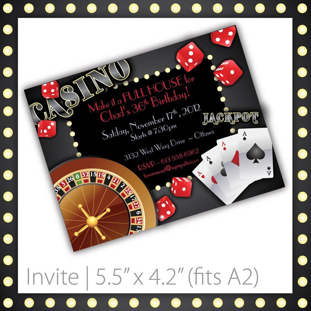 Casino Themed Invitation Templates