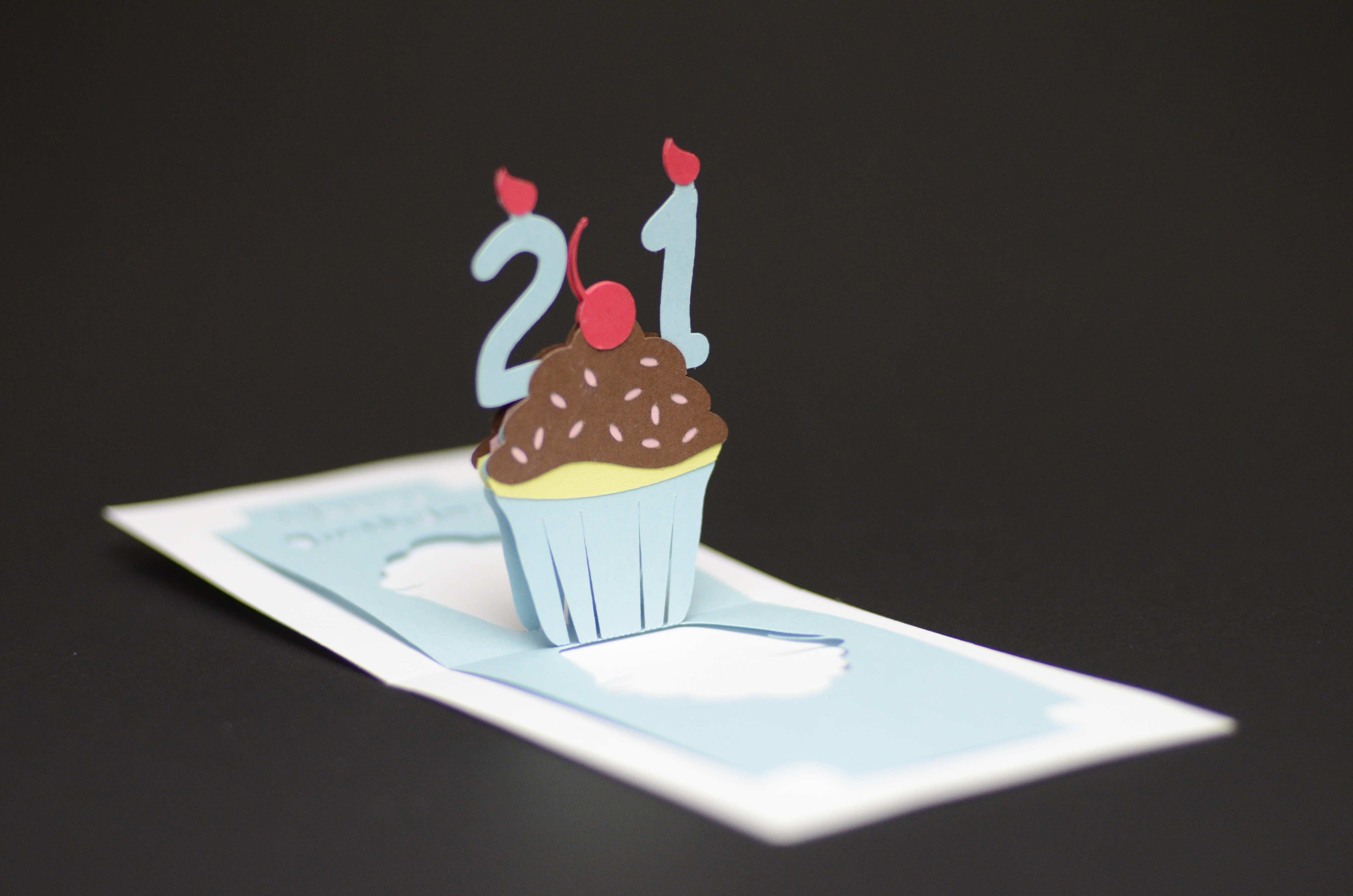 Free Cupcake Birthday Card Template