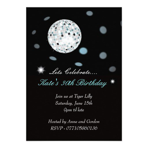 Free Disco Ball Party Invitations