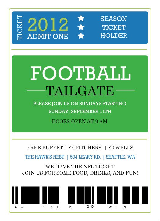 Free Football Party Invitations Templates