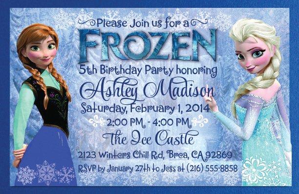 Free Frozen Birthday Invitation Blank Templates