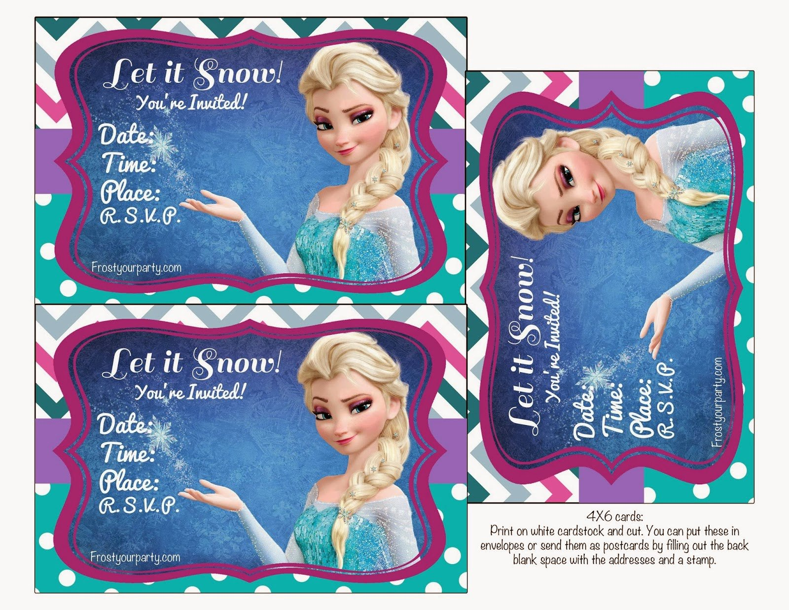 Free Frozen Printable Invitation Designs