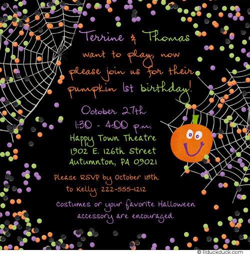 Free Halloween Printable Party Invitations