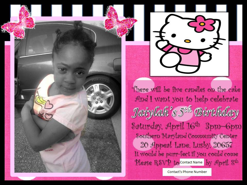 Free Hello Kitty Custom Invitations