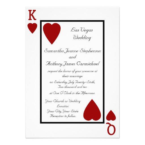 Free Las Vegas Wedding Invitations Templates