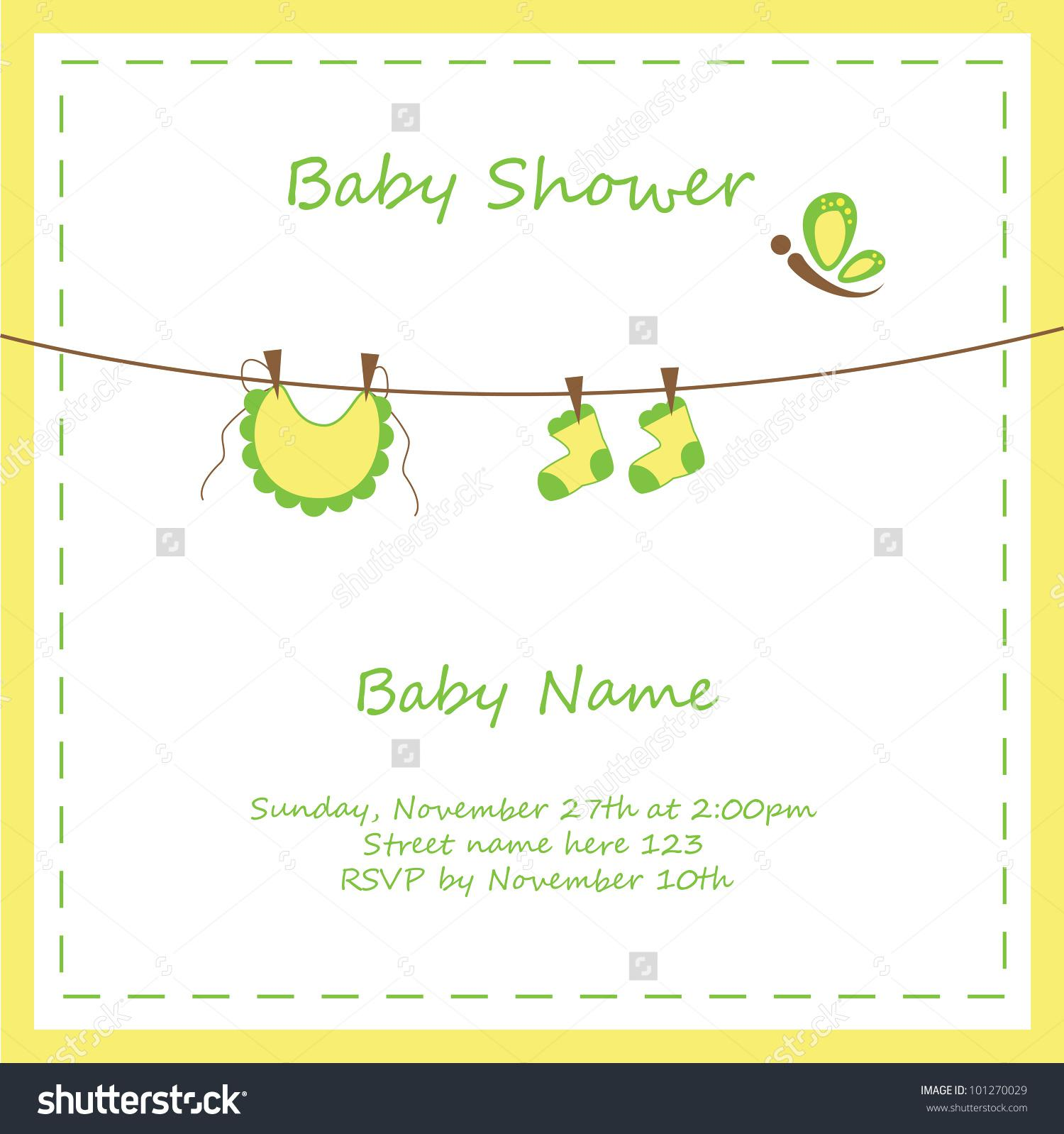 Neutral Baby Shower Invitation Templates