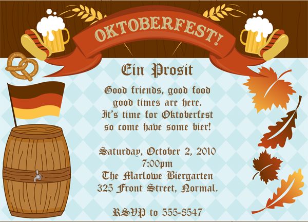 Free Oktoberfest Party Invitation Templates