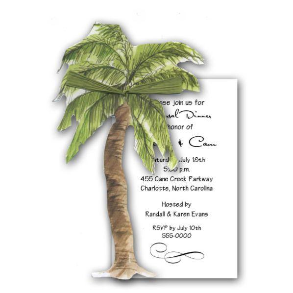 Free Palm Tree Wedding Invitation Templates