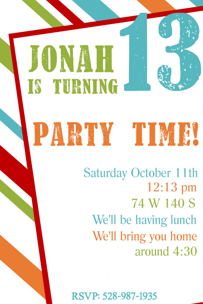 Free Party Invitations Online