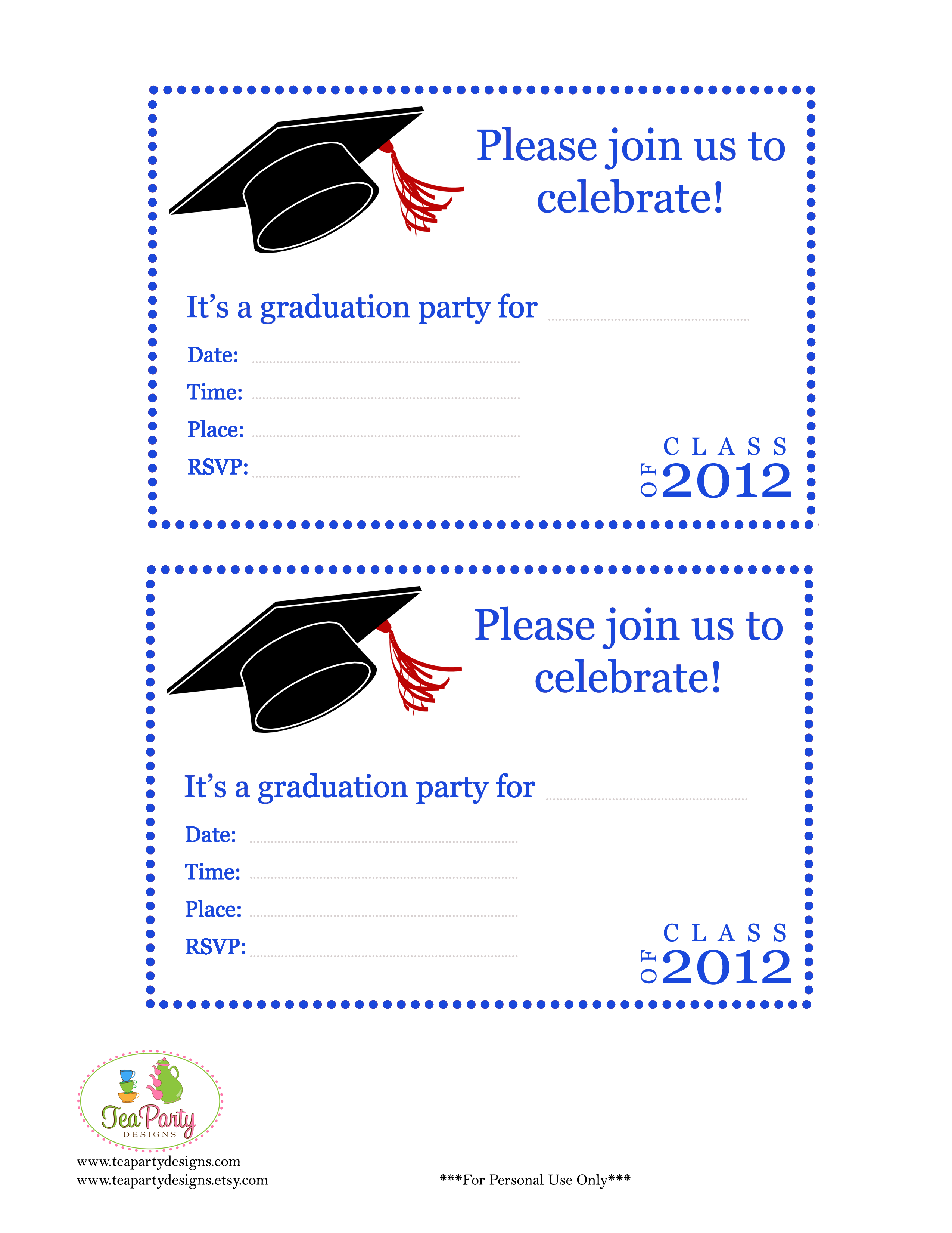 Free Preschool Graduation Invitations