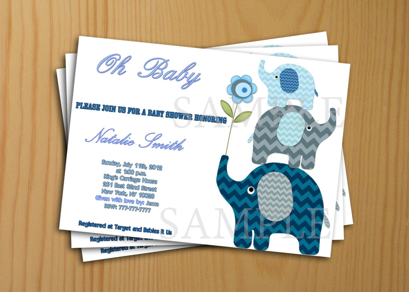 Free Printable Baby Shower Invitations Thank-you Card