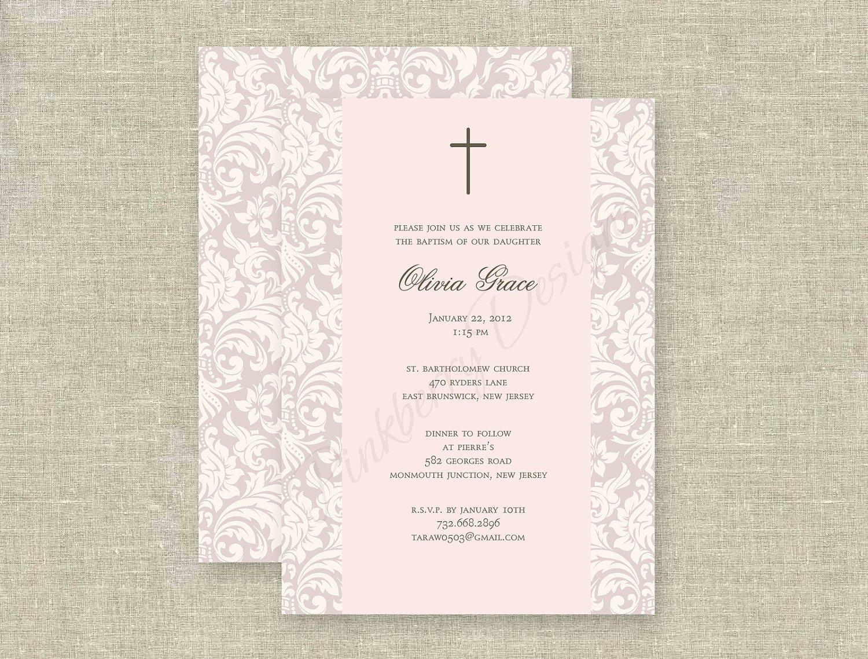 Free Print Baptism Invitation