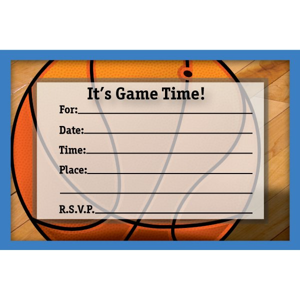 Free Printable Basketball Birthday Invitations – Basketball Birthday Invitations