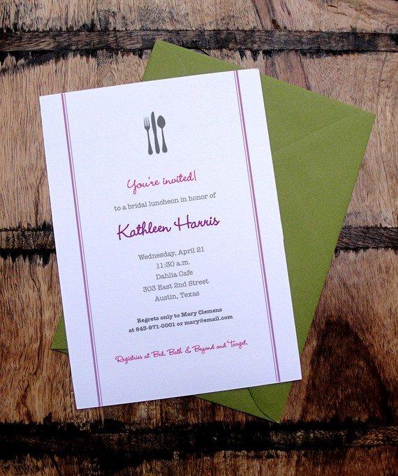 Free Printable Bridal Luncheon Invitations