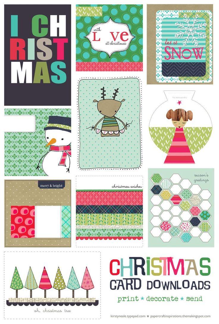 Free Printable Christmas Cards All