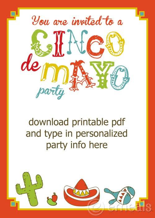 Free Printable Cinco De Mayo Party Invitations