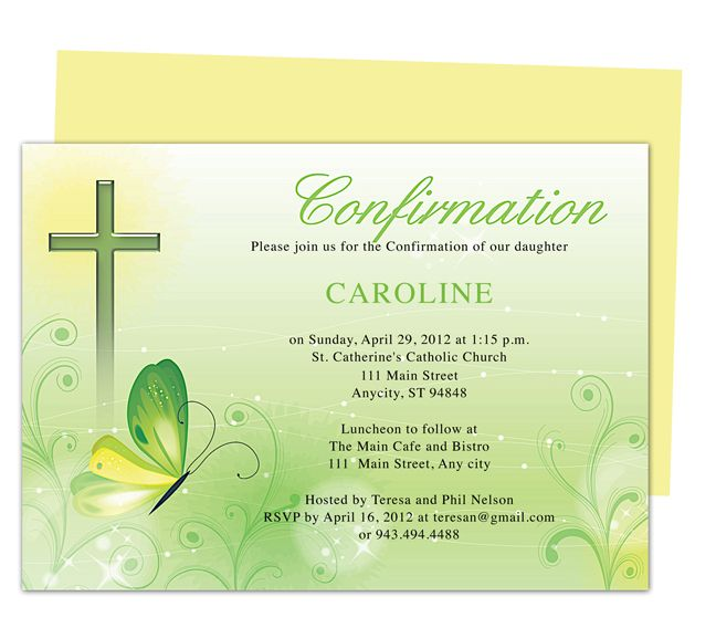 Printable Confirmation Invitations