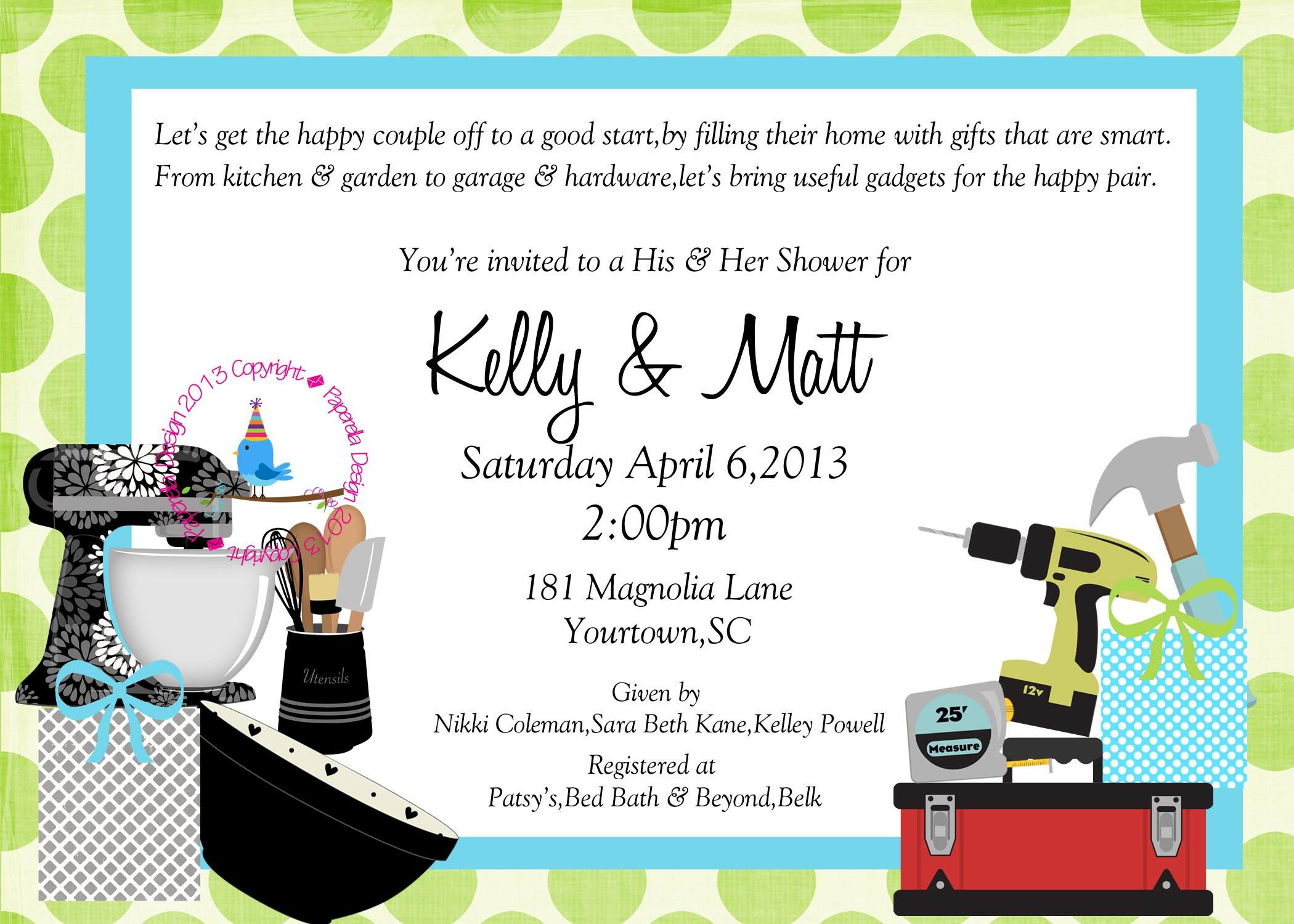 Printable Couples Wedding Shower Invitations