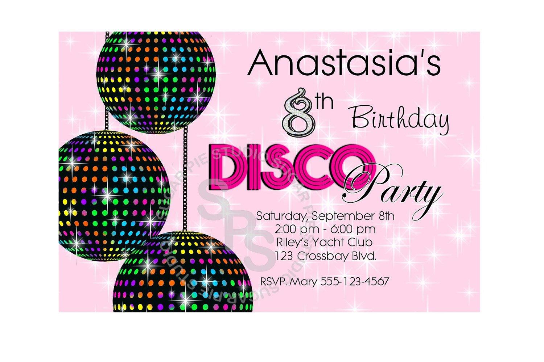 Free Printable Disco Ball Invitations