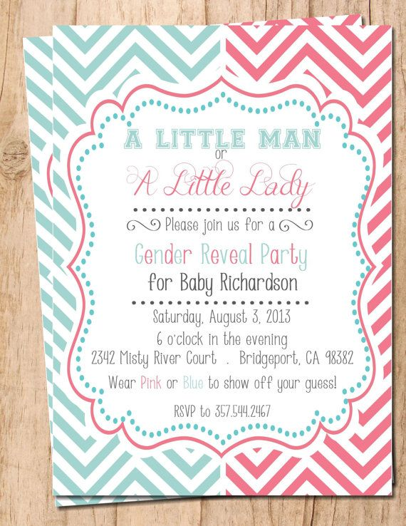Free Printable Gender Reveal Invitation Templates