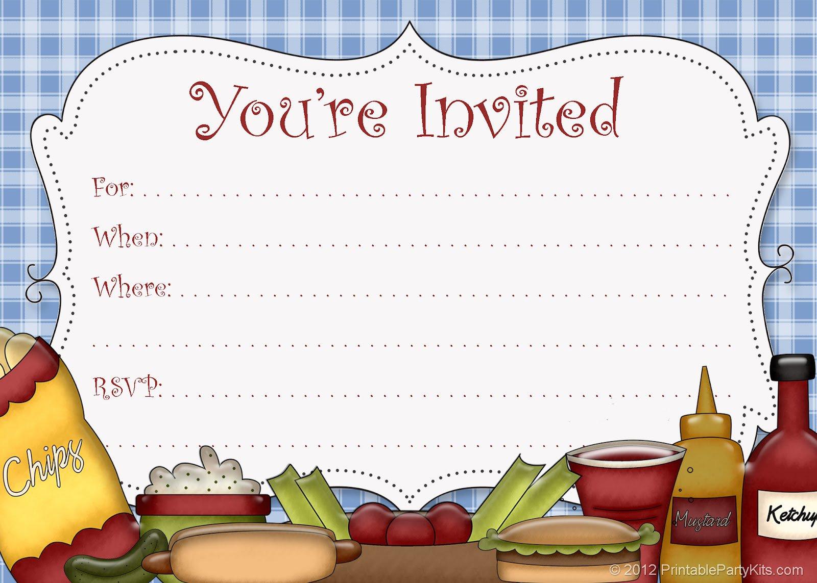 Free Printable Invitation Aff