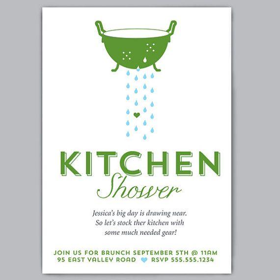 Free Printable Kitchen Bridal Shower Invitations Templates