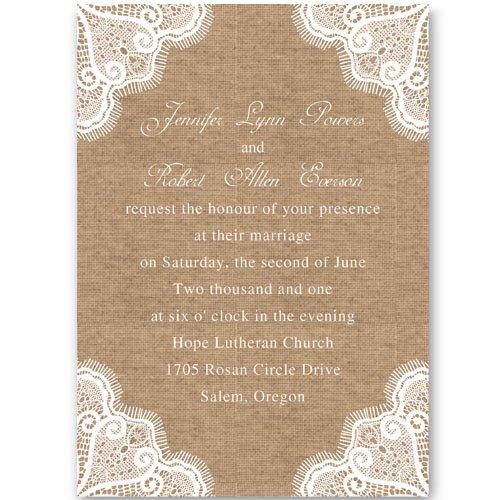 Free Printable Lace Wedding Invitations