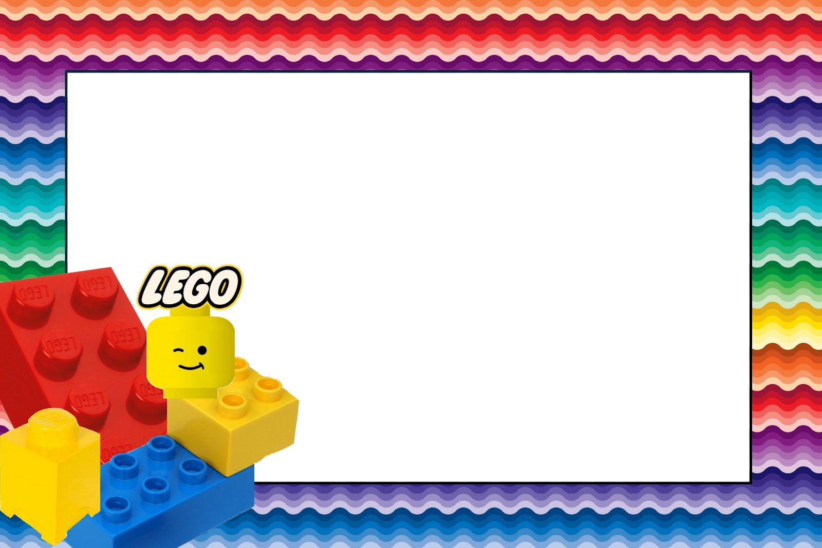 Free Printable Lego Invitation Template