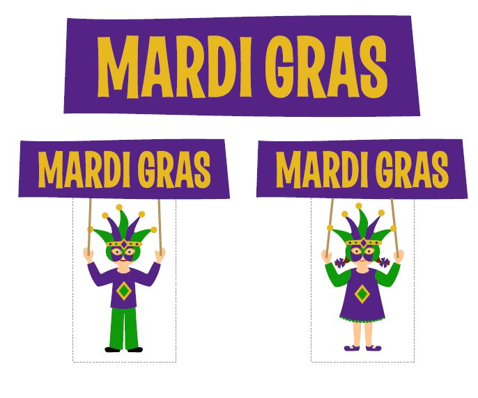 Free Printable Mardi Gras Decorations